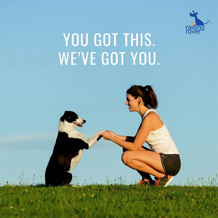 you've got this, woman and dog